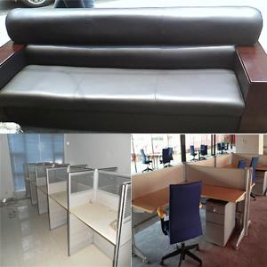 回收办公桌 会议椅 会议桌 隔间